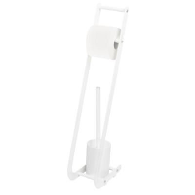 Комплект Четка и Тоалетна Хартия За Баня Бяло AWD02071450