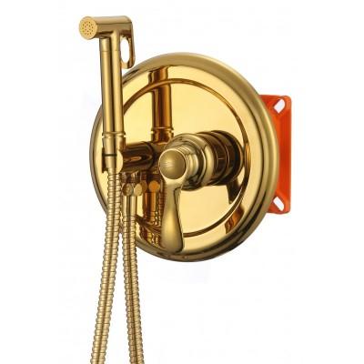 Смесител за вграждане с бидетна функция ICF3316G златен