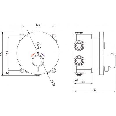 Душ комплект за вграждане Неро  595027B черен мат 1 функция