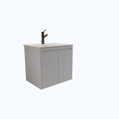 Шкаф за баня висящ Beranjena 65см бял 2 чекмеджета