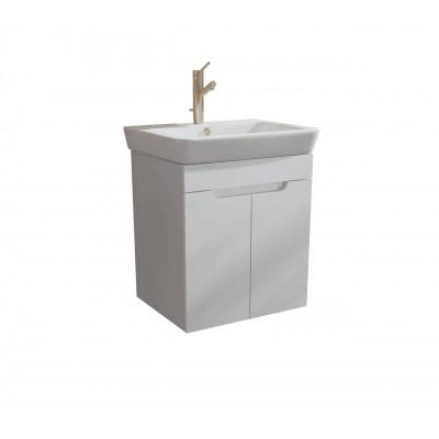 Шкаф за баня висящ Касерта 60см бял 2 врати