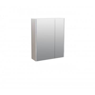 Шкаф за баня огледален Касерта 60см бял 2 врати