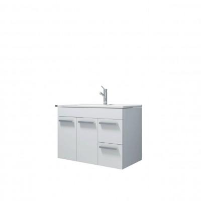 Шкаф за баня висящ Deano 80см бял