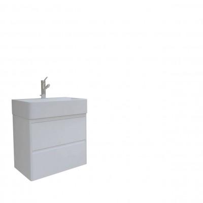 Шкаф за баня висящ Иберис 60см бял 2 чекмеджета