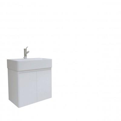 Шкаф за баня висящ Иберис 60см бял 2 врати