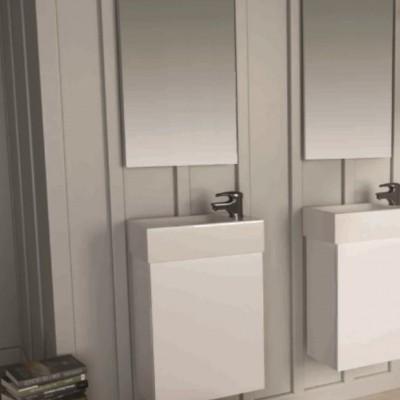 Шкаф за баня висящ Isik 40см бял