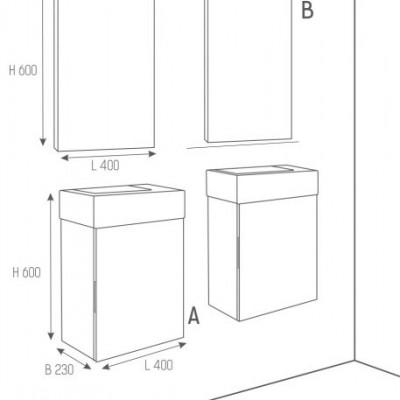 Огледало Isik с Пвс рамка 40см бяло
