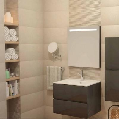 Шкаф за баня огледален Line 65см бял 1 врата
