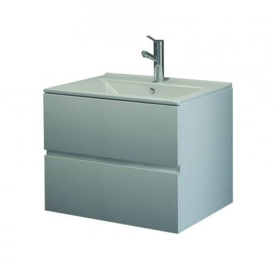 Шкаф за баня висящ Line 75см бял 2 чекмеджета