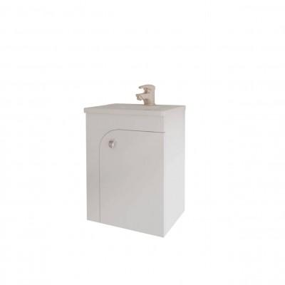 Шкаф за баня висящ Lyra 45см бял