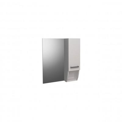 Шкаф за баня огледален Round 60см бял