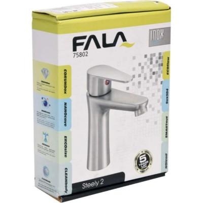 Смесител за мивка Steely 2 Fala хром мат 75802