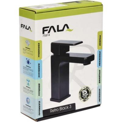 Смесител за мивка Fala Retro Black 3 75814 черен мат