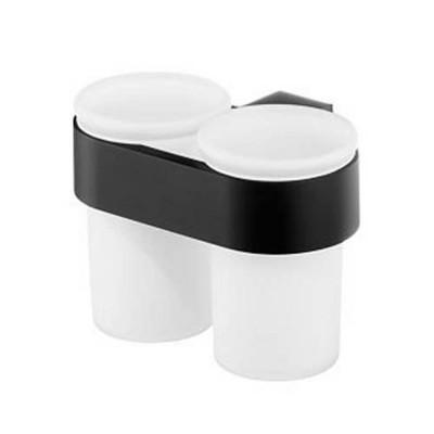 Чаша двойна Futura черен мат 71102960