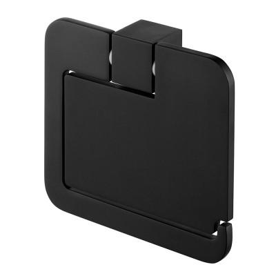Поставка за тоал.хартия с капак Futura черен мат 71102961