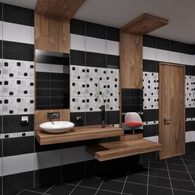 Плочки за баня Линеа Черна