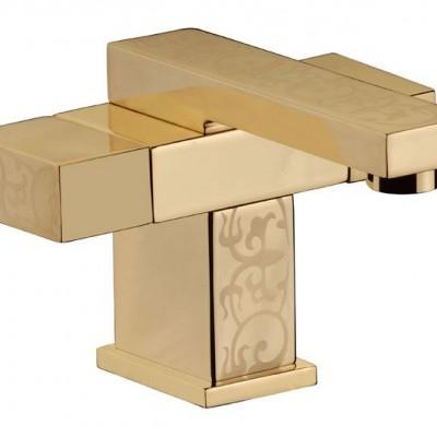 Смесител Стоящ за Умивалник Twin W5112YG82 Shini Gold