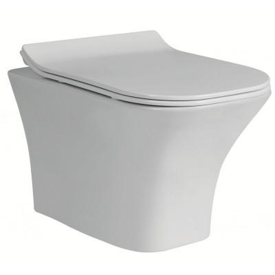 Тоалетна чиния висяща  3435W  SLIM бяла
