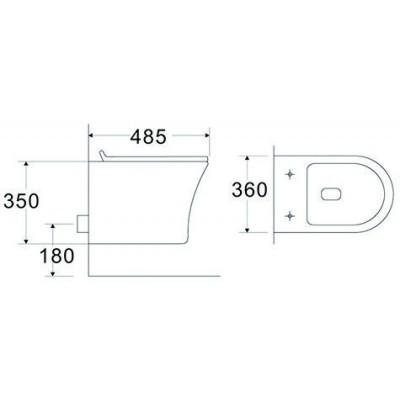 Тоалетна чиния висяща  3635W  SLIM бяла