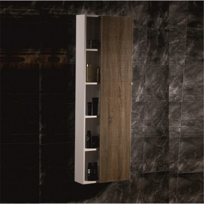Шкаф Колона за Баня ICP4516 дървесна