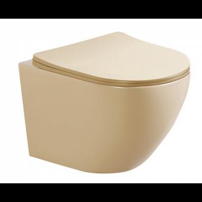 Стенна тоалетна чиния ICC 4937BEIGE бежов мат