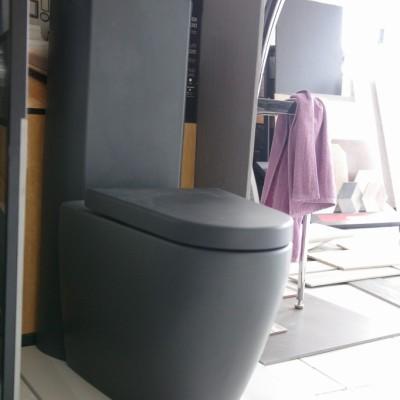Тоалетна Чиния Стояща Tizi 8048А37 / 10003B37 Плавно Падане Антрацит