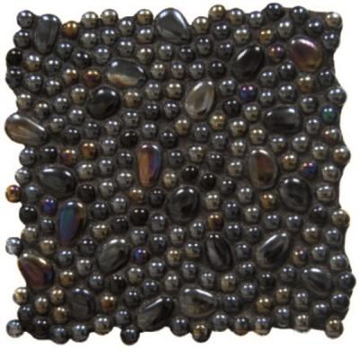 Мозайка Tirreno iris black malla 30x30