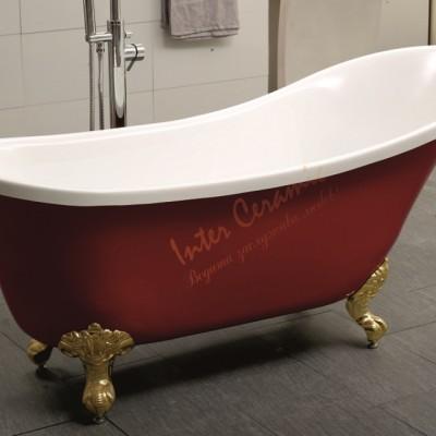 Вана Ретро Червено и Бяло с Хром Крачета ICS LB 1784 R