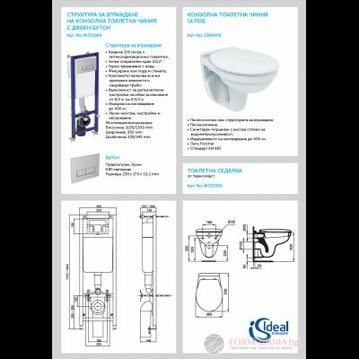 Промо комплект Ideal Standard за вграждане Ulysse