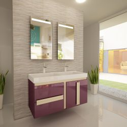 Шкаф за баня NUVOLA 120 NU12002C2D