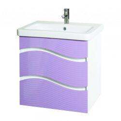 Шкаф за баня Глакси лилав 600 мм
